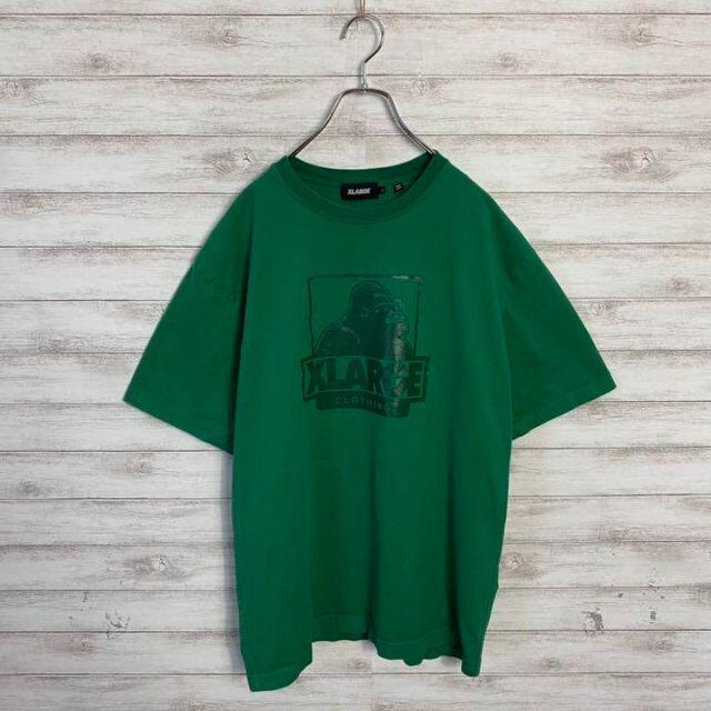 XLARGE(エクストララージ)の【アースカラー】エクストララージ 希少カラー グリーン ゴリラロゴ Tシャツ メンズのトップス(Tシャツ/カットソー(半袖/袖なし))の商品写真