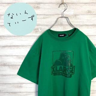 XLARGE - 【アースカラー】エクストララージ 希少カラー グリーン ゴリラロゴ Tシャツ