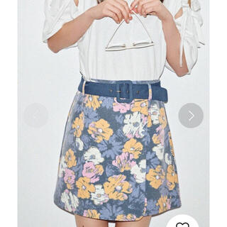 レディアゼル(REDYAZEL)の【同梱限定】定価7689円 オリジナルフラワーラップミニ台形スカート ブルー(ミニスカート)