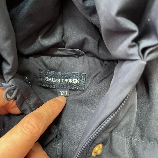 Ralph Lauren(ラルフローレン)の美品 ラルフローレン  Ralph Lauren ダウン ペプラム 120㎝ キッズ/ベビー/マタニティのキッズ服女の子用(90cm~)(ジャケット/上着)の商品写真