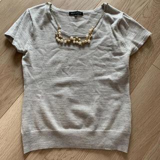 ミッシュマッシュ(MISCH MASCH)のMISCH MASCH 半袖ニット トップス カットソー パール付(Tシャツ(半袖/袖なし))