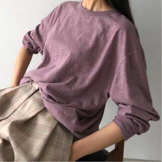 TODAYFUL - TODAYFUL Slub Cotton Long T-Shirts