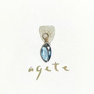 agete - agete K10 ロンドンブルートパーズ ピアス イヤリング チャーム