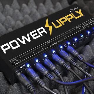 Donner エフェクター電源 10チャンネル パワーサプライ 独立動作 電源供(パワーアンプ)