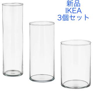 イケア(IKEA)の新品未使用 イケア ガラス 花瓶 北欧 アンティーク おしゃれ フラワーベース(花瓶)