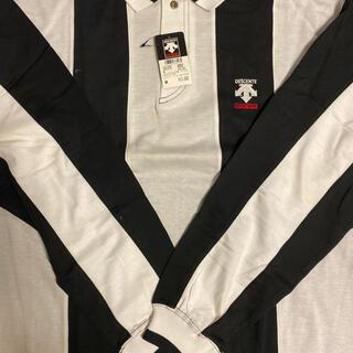 DESCENTE - 38・デサントゴルフ長袖ポロシャツアメリカサイズ