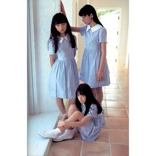 篠山紀信少女館写真ブルーのストライプのワンピース