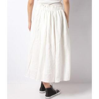 サマンサモスモス(SM2)の週末限定セール 新品タグ付 SM2  テレデランリネンギャザースカート(ロングスカート)