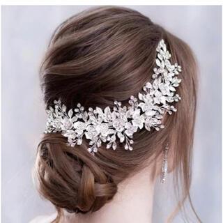 ヘッドドレス ウェディング ヘアアクセサリー 髪飾り 結婚式 ブライダル 前撮り