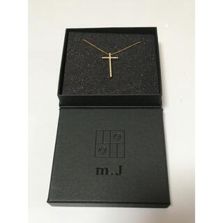 18K クロス ネックレス ダイヤパヴェ留(ネックレス)