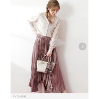 PROPORTION BODY DRESSING - シャイニープリーツスカート