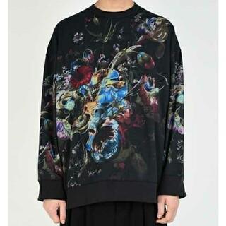 LAD MUSICIAN - ラッドミュージシャン LOOP BACK CLOTH INKJET FLOWER