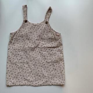 韓国子供服 cotton house 花柄ジャンパースカート