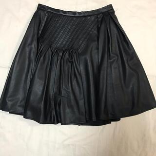 エストネーション(ESTNATION)のESTNATION レザー風スカート(ひざ丈スカート)