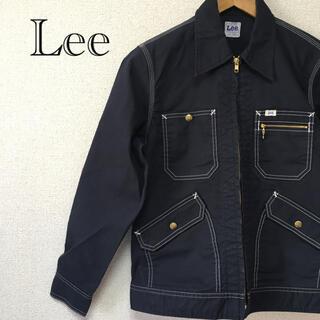 リー(Lee)のLee リー ワークジャケット キャンバス デニムジャケット 春 綿 ネイビー(Gジャン/デニムジャケット)