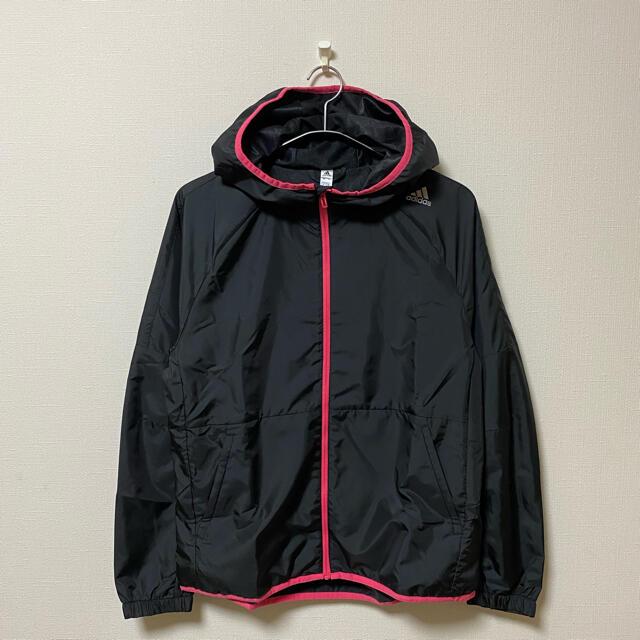 adidas(アディダス)の新品 アディダス ウインドブレーカー ブラック 裏起毛 レディース L レディースのジャケット/アウター(ナイロンジャケット)の商品写真