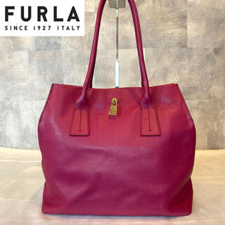 Furla - 【FURLA 】フルラ トートバッグ ローズピンク ゴールドチャーム レザー