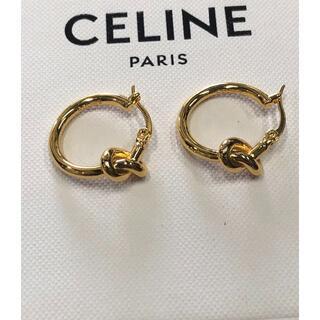 celine - 人気商品【CELINE】ノット スモールフープ ピアス
