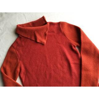 ロベルトコリーナ(ROBERTO COLLINA)のROBERTO COLLINA アンゴラ混 ニット タートルネック セーター 赤(ニット/セーター)