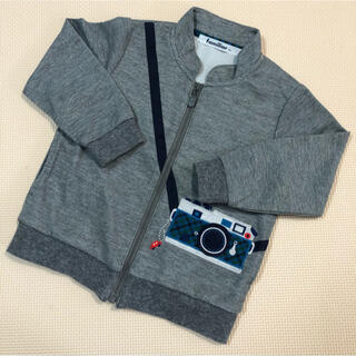 familiar - 【美品】ファミリア だまし絵 ジャケット アウター カーディガン 90サイズ