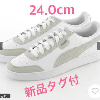 PUMA - プーマ PUMA コート レジェンド ロウ スニーカー ホワイト 新品タグ付