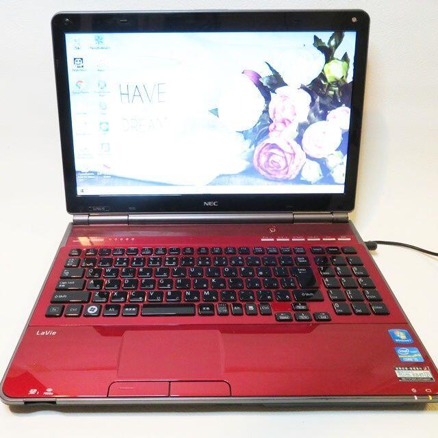 NEC(エヌイーシー)の【綺麗な赤】大容量/LaVie/ノートパソコン スマホ/家電/カメラのPC/タブレット(ノートPC)の商品写真