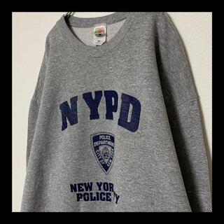 ヘインズ(Hanes)の90s NYPD / ニューヨーク市警察 チャンピオン スウェット トレーナー(スウェット)