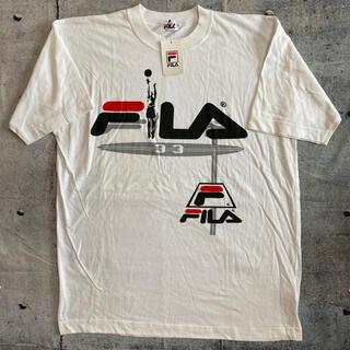 FILA - 【フィラ】FILA 新品 ビッグロゴ Tシャツ ゆるだぼ 半袖 白 プリント