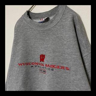 ヘインズ(Hanes)の90s Wisconsin / ウィスコンシン 大学 カレッジ 刺繍 スウェット(スウェット)