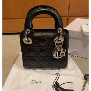 Christian Dior - Dior レディディオール ミニ ハンドバッグ シルバー金具