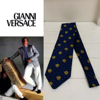 ジャンニヴェルサーチ(Gianni Versace)のGIANNI VERSACE 90s ITALY製 メデューサ柄 シルクネクタイ(ネクタイ)