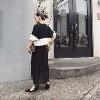 アメリヴィンテージ(Ameri VINTAGE)のAmeri VINTAGE LOGO FASTENER SWEAT DRESS(ロングワンピース/マキシワンピース)