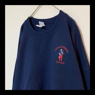 ヘインズ(Hanes)の90s Colonials / コロニアル 植民地 刺繍 スウェット トレーナー(スウェット)
