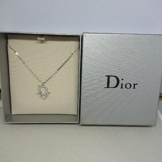 クリスチャンディオール(Christian Dior)のCD117 未使用【Dior ディオール】ネックレス ストーン シルバー(ネックレス)