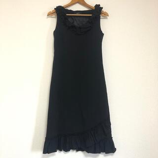 エーティー(A/T)の A/T 黒 ブラック フォーマル パーティ ワンピース ドレス(ひざ丈ワンピース)