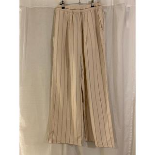 フローレント(FLORENT)のflorent stripe wide pants(カジュアルパンツ)