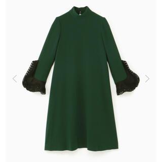 mame - 新品 ♡ mame マメ ベルスリーブ ドレス グリーン size2