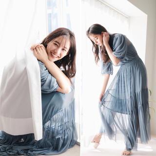 snidel - ❣️新木優子着用21春夏新作スナイデルSustainaチュールティアードドレス