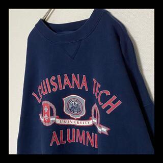 ヘインズ(Hanes)の【大人気!】 90s カレッジ ルイジアナ大学 スウェット トレーナー ネイビー(スウェット)