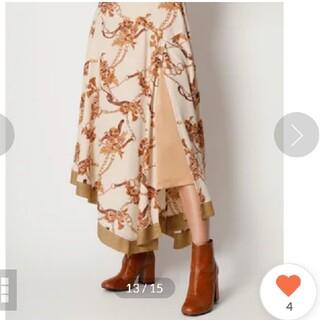 Lily Brown - 新品!リリーブラウン フラワーチェーン柄スカート スカート フレイアイディー