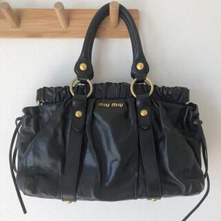 miumiu - ミュウミュウ バック miumiu 黒 ブラック  カバン