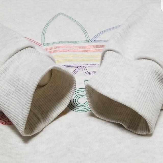 adidas(アディダス)のレア!90s デサント製 アディダス ビッグトレフォイルロゴ パーカー メンズのトップス(パーカー)の商品写真