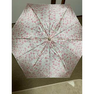 LANVIN en Bleu - 新品未使用 ランバンオンブルー折りたたみ雨傘 コンパクト軽量ピンク花柄