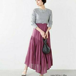 IENA - ヌキテパイエナコットンパネルスカート