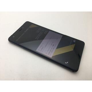キョウセラ(京セラ)のSIMフリー美品au Qua phone QZ KYV44 インディゴ94(スマートフォン本体)