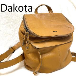 ダコタ(Dakota)のDakota リュック キャメル レザー 人気モデル エレガント シンプル(リュック/バックパック)