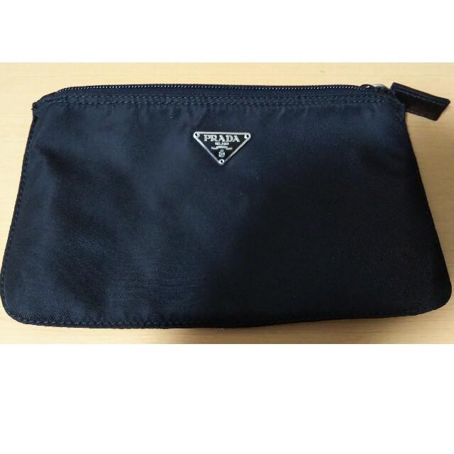 PRADA(プラダ)のPRADA ポーチ ギャランティカード付 ブランド レディースのファッション小物(ポーチ)の商品写真