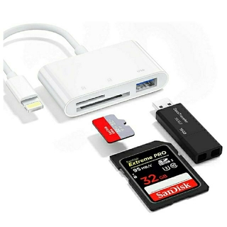【2021年版】iPhone/iPad 3in1 USB OTG SD TF