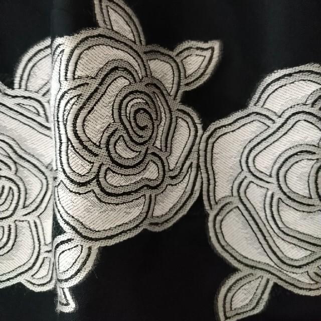 M'S GRACY(エムズグレイシー)のエムズグレイシー 薔薇柄フレアーワンピース レディースのワンピース(ひざ丈ワンピース)の商品写真