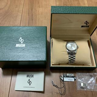 未使用 定価9万円 MUSK 腕時計 動作品!